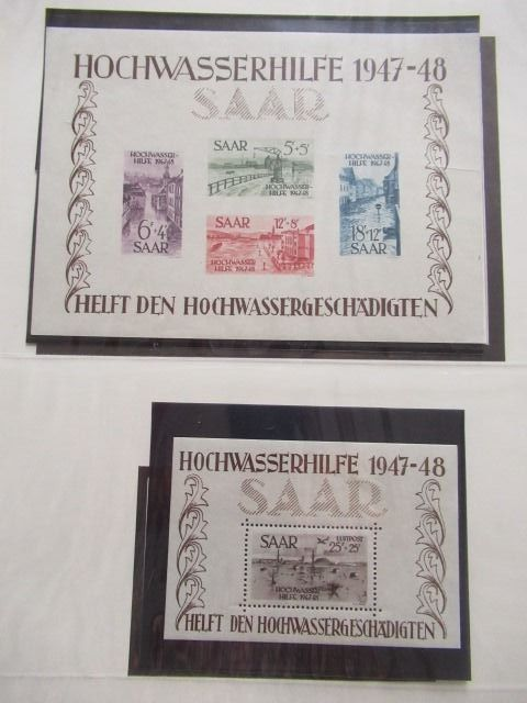 Saarland 1920/1959 - A very significant collection of stamps