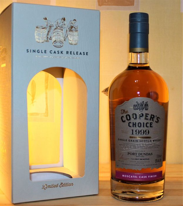 Port Dundas 1999 20 years old Moscatel Cask Finish - The Cooper's Choice - b. 2019 - 70cl