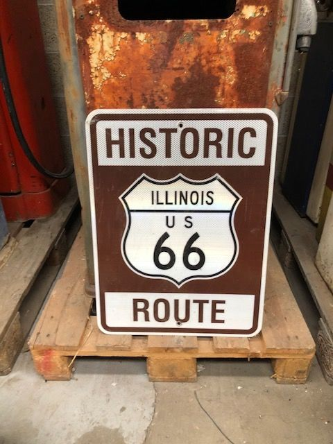 Route 66 Illinois road signs - Aluminum - route 66
