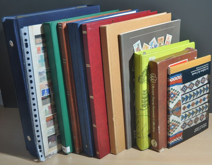 Canada - Batch in various stock books, folders, on pages and booklets