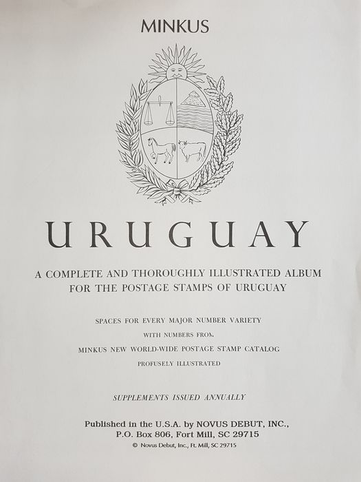 Uruguay 1866/1967 - Collection on Minkus pages