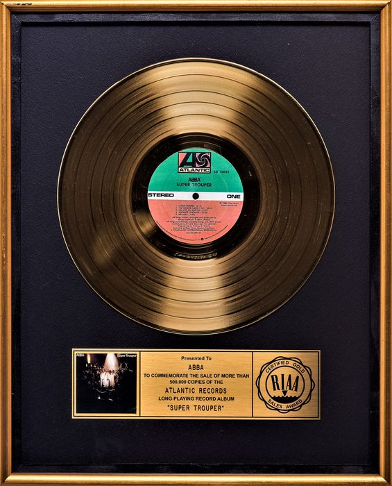 ABBA - Super Trouper presented to ABBA - Offizieller RIAA-Award - 1981/1981