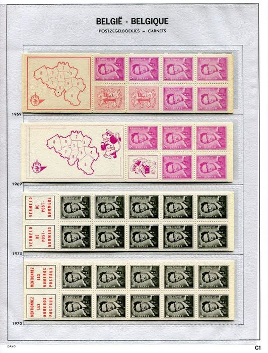 Belgium 1969/2008 - Collection of booklets on Davo album sheets