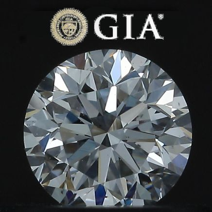 1 pcs Diamond - 0.40 ct - Round - D - VS2