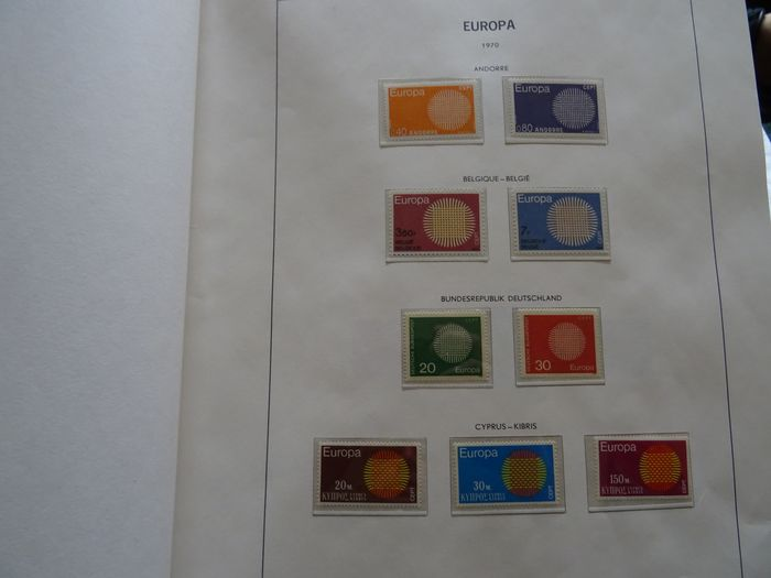 Europe Cept + Followers 1970/1988 - Almost complete collection in 2 DAVO pre-printed albums