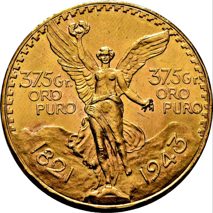 Mexico. 50 Pesos 1943 - 100th Anniversary of Independence from Spain