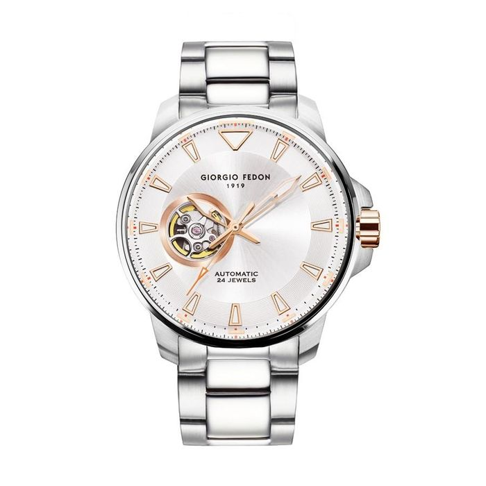 """Giorgio Fedon - Automatic Accurate III White Dial Stainless Steel Bracelet - GFBW009 """"NO RESERVE PRICE"""" - Hombre - 2011 - actualidad"""
