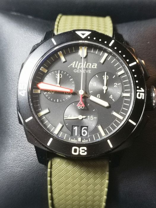 Alpina - Seastrong Diver 300 Big Date Chronograph - Ref. AL372X4V6 - Men - 2011-present