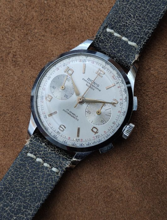 "Dionis - Chronographe Suisse - ""NO RESERVE PRICE"" - Heren - 1950-1959"
