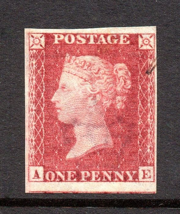 Great Britain - QV 1865 1d Royal Reprint Plate Proof in Carmine Rose Plate 66 - Stanley Gibbons SG Spec DP35