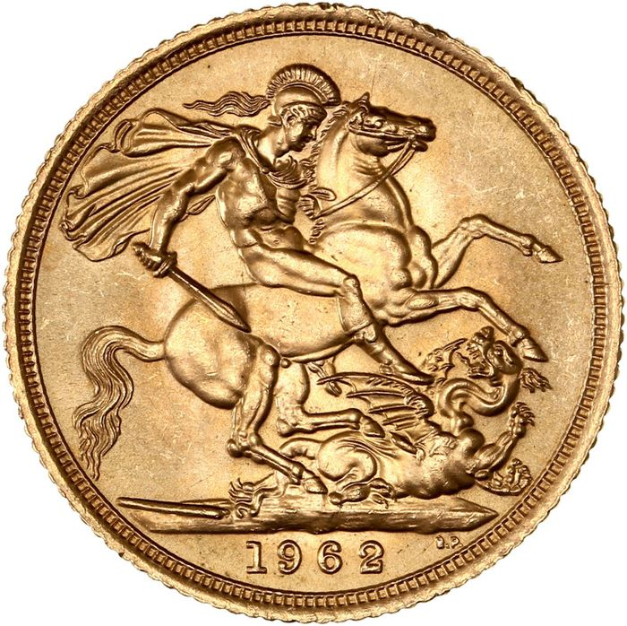 United Kingdom. Sovereign 1962 Elizabeth II