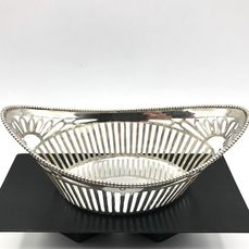 J.P.H de Vries Hoorn 1925 - Antique handmade and open-cut Dutch silver Bonbon basket - .833 silver