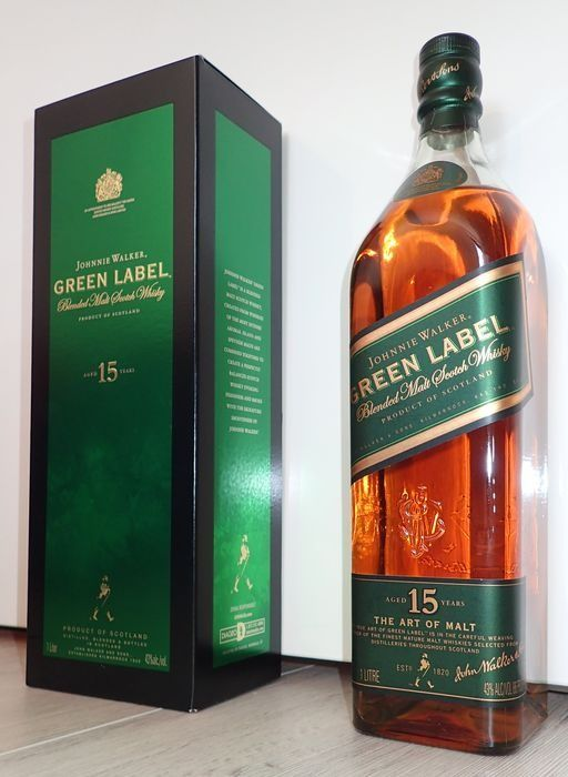 Johnnie Walker 15 years old Green Label - 1.0 Litre
