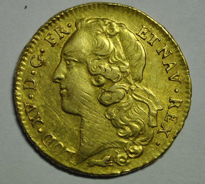 France. Louis XV (1715-1774). Double Louis d'or 1766-R, Orléans