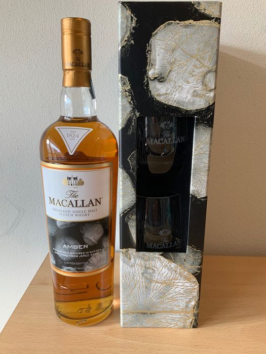Macallan Amber Limited Edition w/ 2 glasses - Original bottling - 70cl
