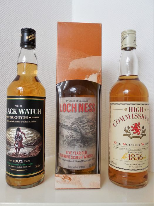 The Black Watch, Loch Ness & High Commissioner - b. 1990s - 70cl - 3 bottles