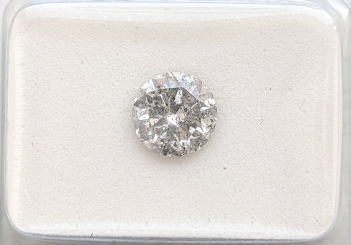 Diamond - 1.10 ct - brylantowy - G - I1 (z inkluzjami), No Reserve Price