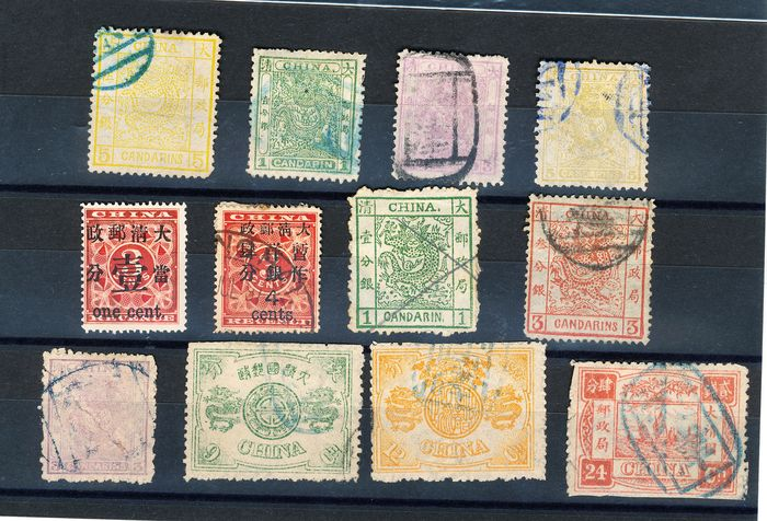 China - 1878-1949 1878/1912 - Lot of classic stamps from China, postmarked and mint - Value: €4500 - Yvert