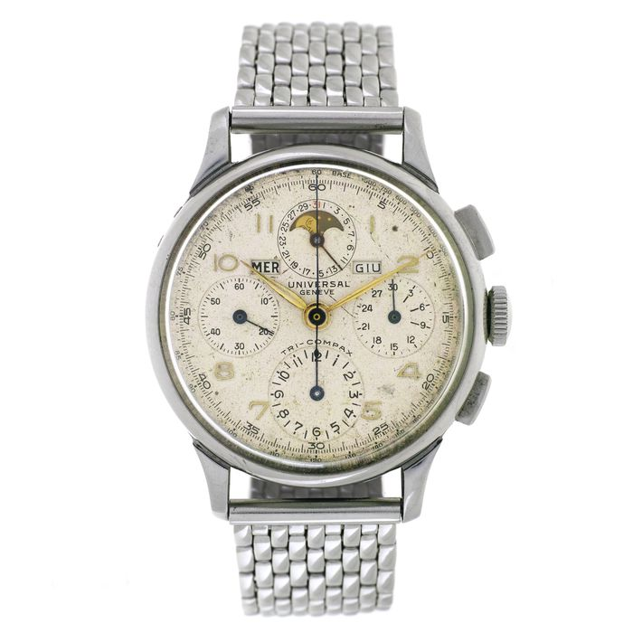 """Universal Genève - """"Tri-Compax"""" - Triple Date Moonphase Chronograph - Ref. 22543 - Heren - 1901-1949"""