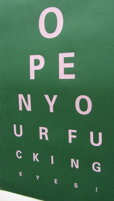 Alex Bucklee Special Edition Sold Out  Signed and numbered - Eye test Green & Pink