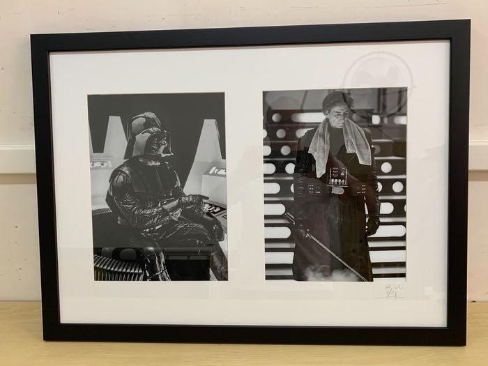 Star Wars - David Prowse as Darth Vader,  Behind The Scenes - 1 - Foto, Framed