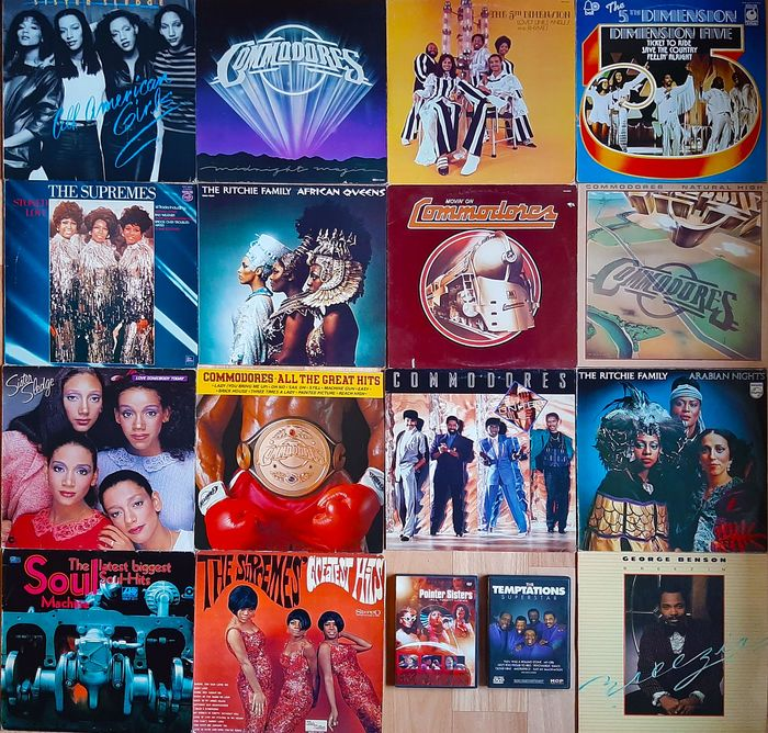 Various Artists/Bands in Funk, Various Artists/Bands in Soul - Multiple artists - 15 Great Soul/Funk albuma + 2 DVD's - Multiple titles - DVD's, LP's - 1967/1986
