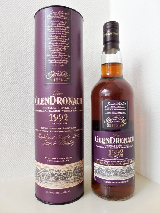 Glendronach 1992 25 years old Professional Danish Whisky Retailer - Original bottling - 70 cl