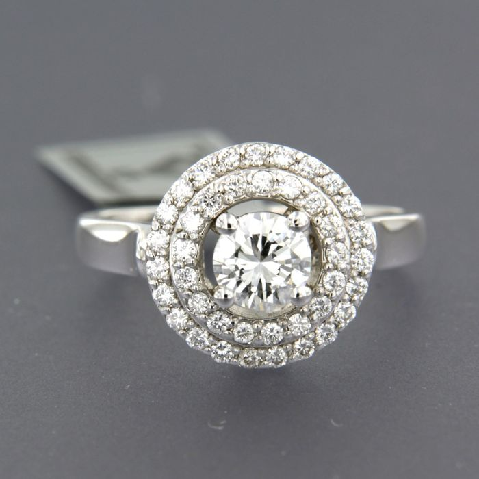 14 karaat Witgoud - Ring - 0.85 ct Diamant