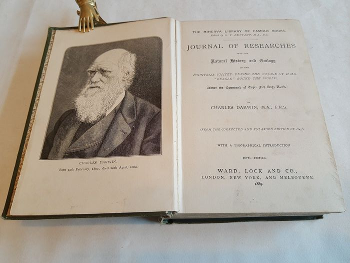 "Charles Darwin - Journal of Researches, the Voyage of H.M.S. ""Beagle"" Round the World - 1889"