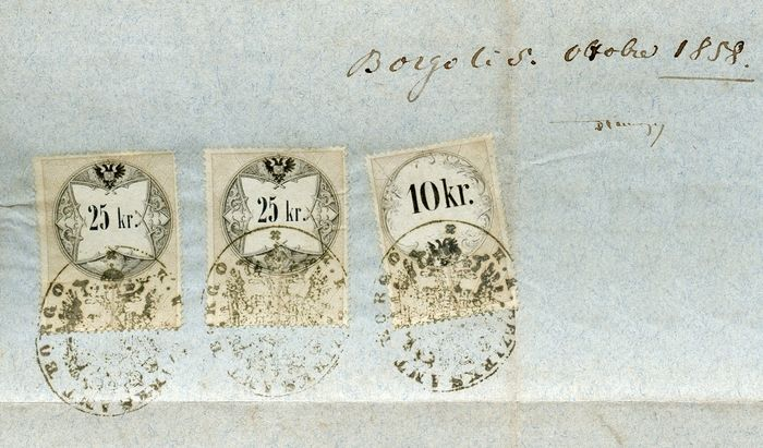 Austria / Italy 1846/1873 - Collection of fourteen legal documents with fiscal stamps and cancellation