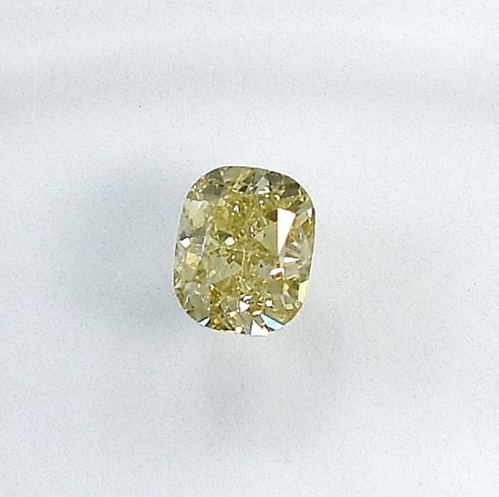 Diamant - 0.31 ct - Coussin - Y-Z,Light Brownish Yellow - Si1 - NO RESERVE PRICE