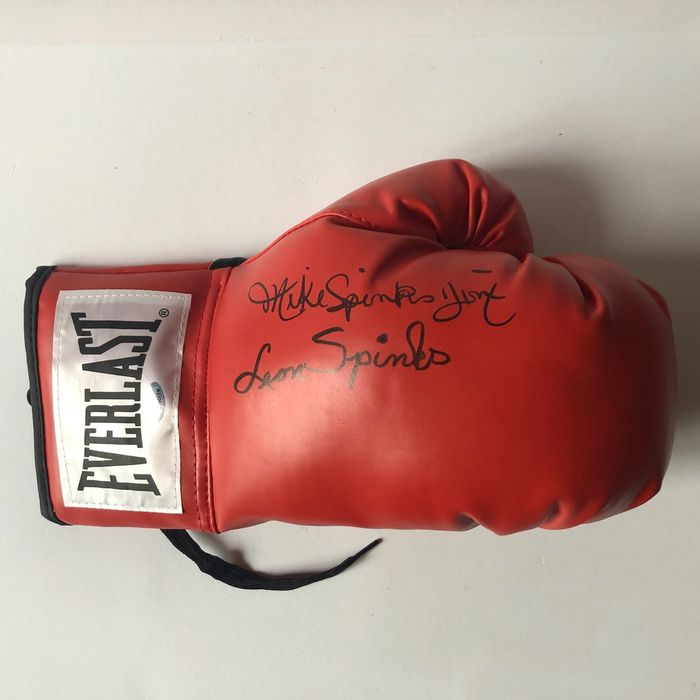 Boxeo - Leon Spinks and Michael Spinks - Guante de boxeo