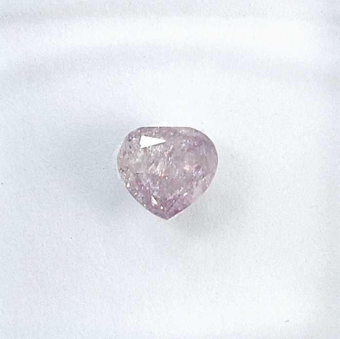 Diamante - 0.28 ct - Pera - Natural Fancy Light Pink - I3 - NO RESERVE PRICE