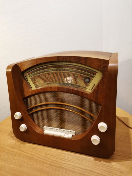 B&O - Excellent, beautiful MASTER DE LUXE 413 K, also known as 'the butchers scale' - Tube radio