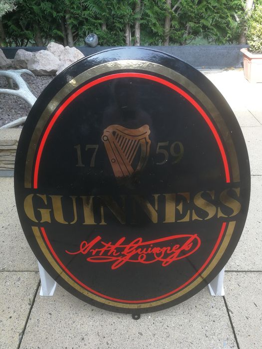 Guinness - Large rare emaille/enamel sign - Signe - Émail