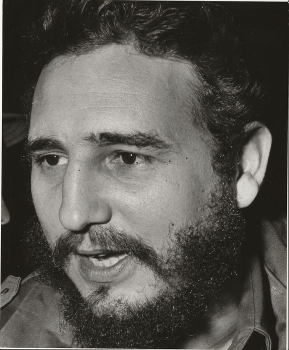 """AP Newsfeatures Photo - Fidel Castro, """"Famed Cuban Dictator"""", Early Close-up Photograph, 1959"""