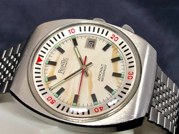 "Rontic - Aeronaut Automatic - ""NO RESERVE PRICE"" - Ref. 15240D - Men - 1970-1979"
