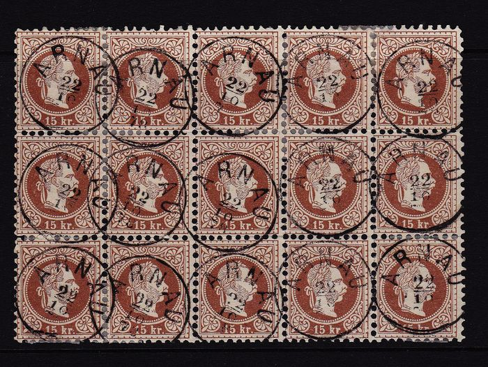 Austria 1867/1867 - 1867 - 15 kreuzers in a very rare unit with 15