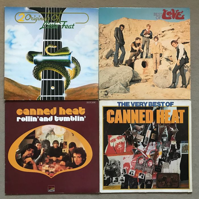 Canned Heat, Love - West Coast Psychedelic Blues - Multiple titles - 2xLP Album (double album), LP's - 1975/1981