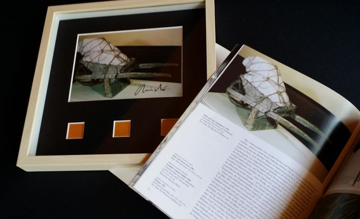 Christo and Jeanne Claude - Christo and Jeanne Claude & signed and framed Surrounded Islands artcard - 2005
