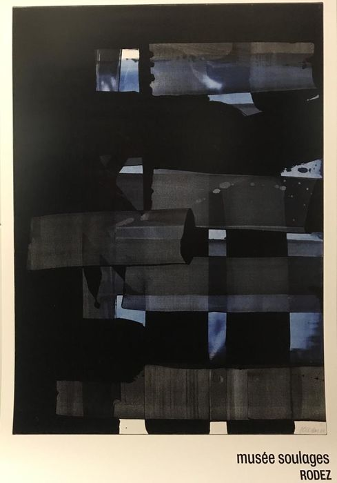 Soulages Pierre (after) - Gouache 1973 - Anni '10 del 2000