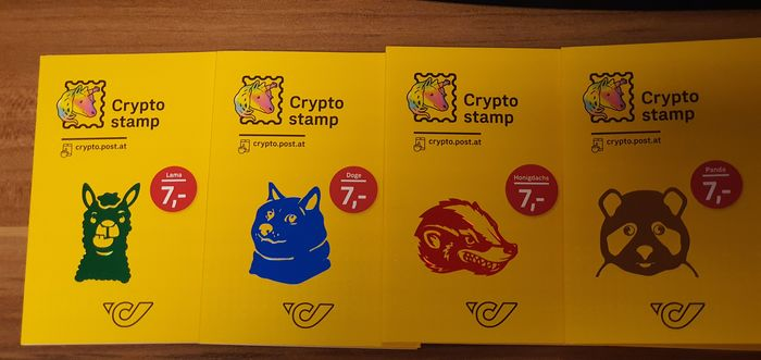 Austria 2020/2020 - Crypto Stamps 2.0, all 4 animals, green