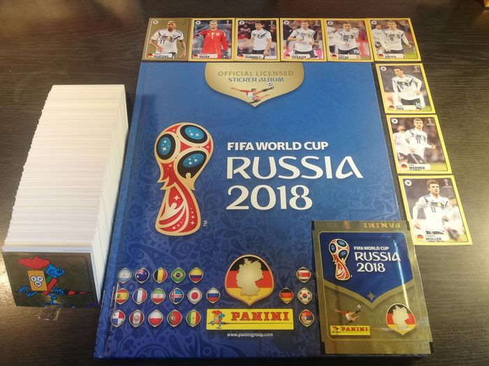 Panini - World Cup Russia 2018 - Lege Hardcover + Complete losse set + Pack