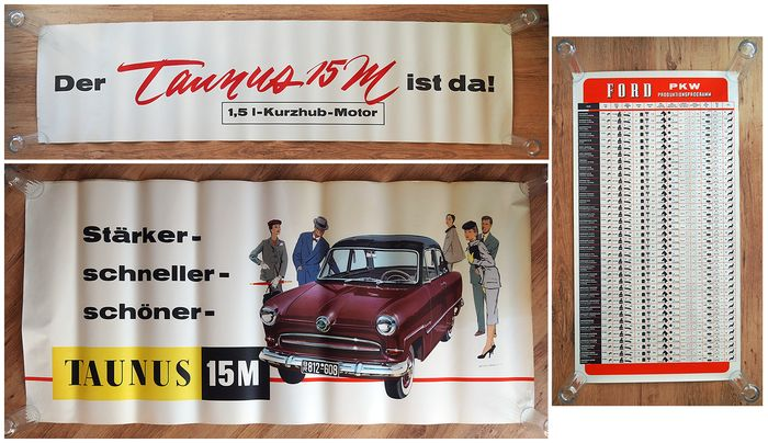 Poster - Ford Taunus 12M / 15M - Ford - 1950-1960