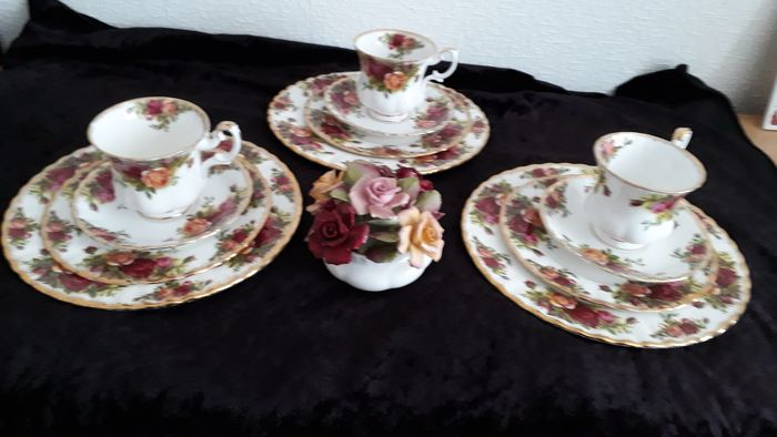 Royal Albert - Old Country Rose - 3 Trii (13) - Romantico - Porcellana