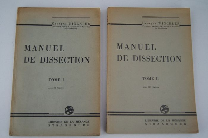 Georges Winckler - Manuel de dissection - 1946