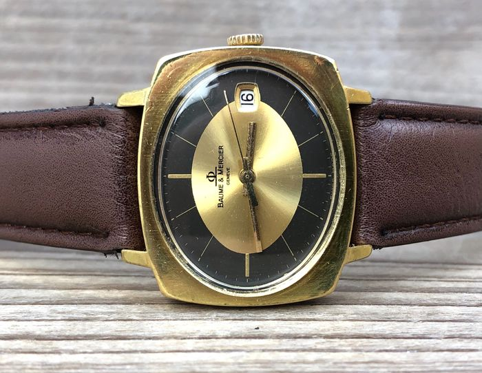 Baume & Mercier - oval Dresswatch 'NO RESERVE' - 11702 - Men - 1960-1969