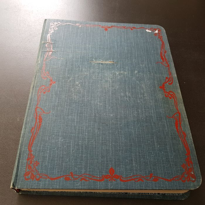 Welt 1850/1900 - Antique album with classics in bulk, many from South America