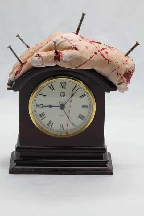 """Mantle Clock with """"extra hand"""" - - - 25×15×5 cm"""
