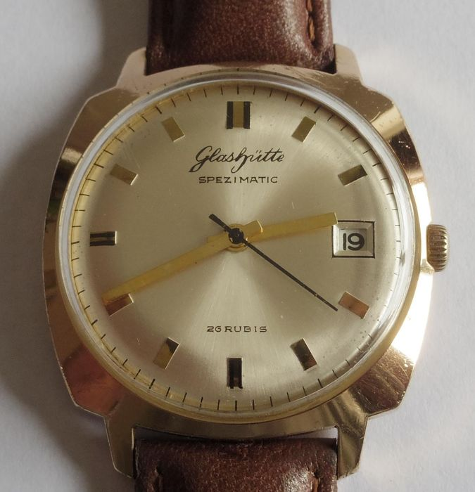 "GUB Glashütte - Spezimatic - 26 Rubis - Cal 75 - ""NO RESERVE PRICE"" - Men - 1970-79"